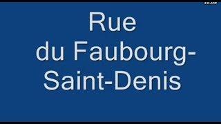 Rue  du Faubourg Saint Denis Paris Arrondissement  10e