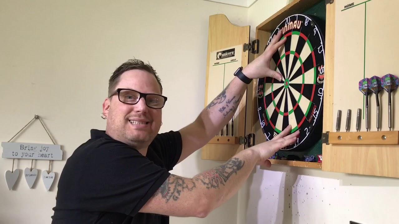 Check Out My New Darts Setup Winmau Blade 5 Dual Core Board