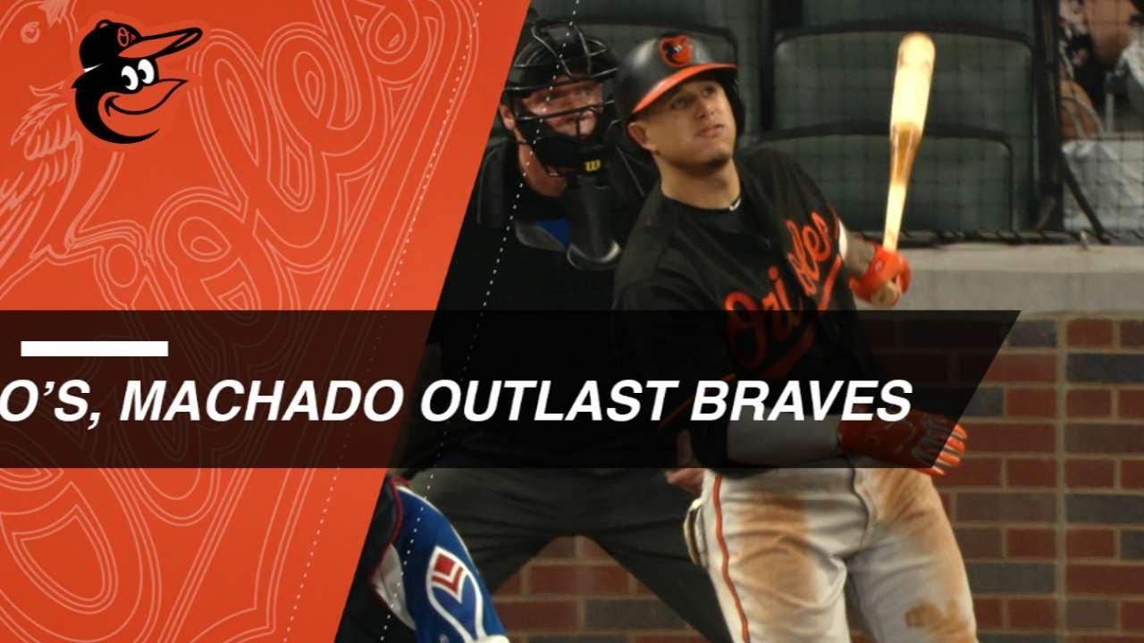 Machado, Orioles outlast Braves in 15 innings