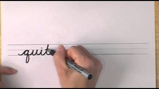How To Write In Cursive // Lesson 18 // A Complete Course // Free Worksheets