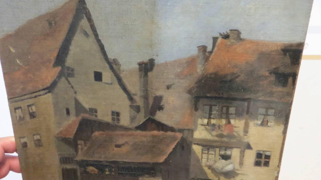 Bekannt Fritz Pontini Restaurierung Gemälde Reinigung Wehr Köln - YouTube YG62