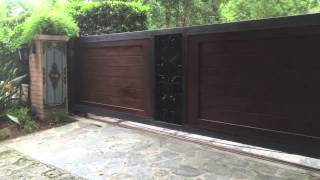 Wood And Iron Gate Installation, Mulholland Security, Los Angeles