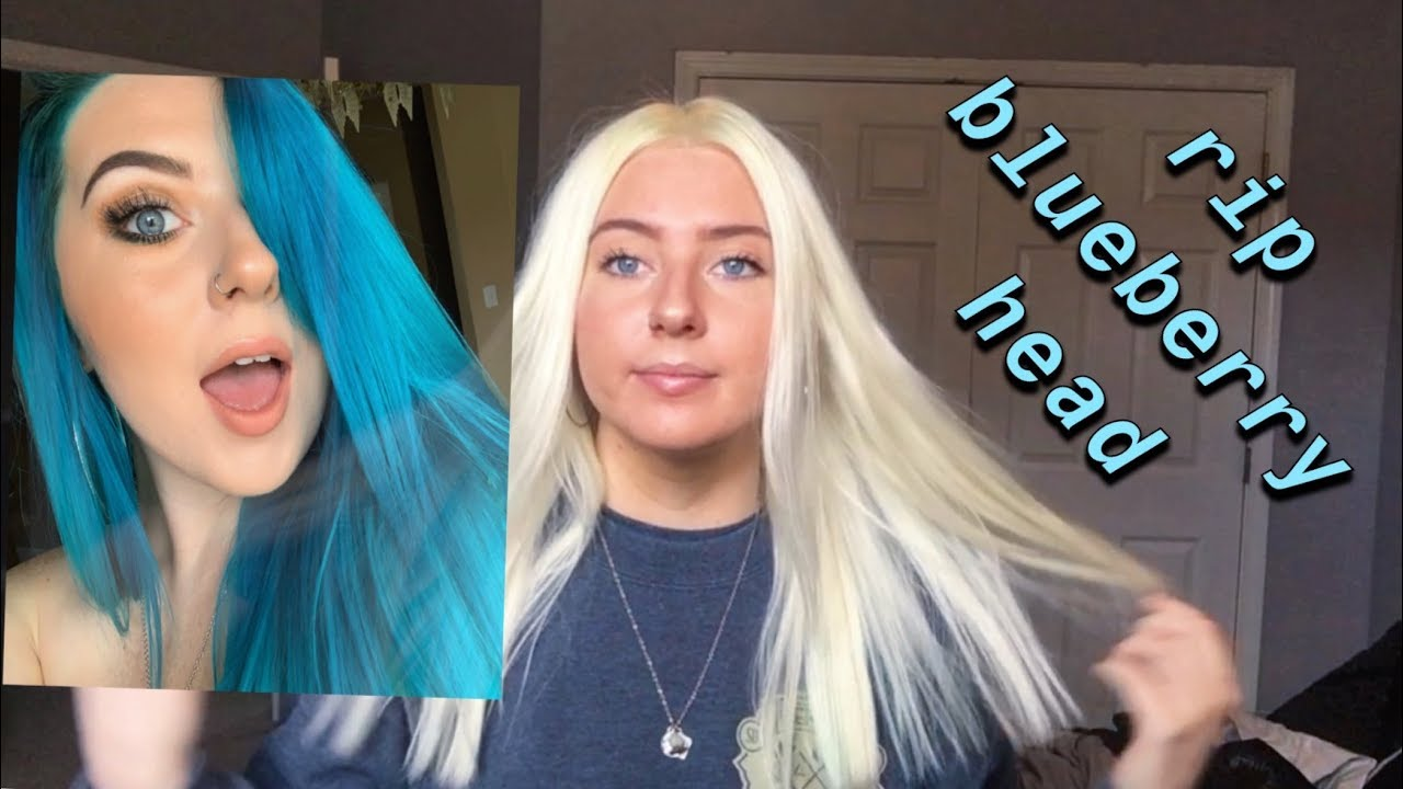 how i fixed/bleached my hair from blue to white