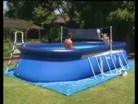 piscina desmontable intex oval frame youtube. Black Bedroom Furniture Sets. Home Design Ideas