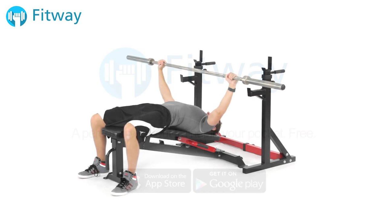 How To Do: Barbell Bench Press - Decline Overhand Wide ...