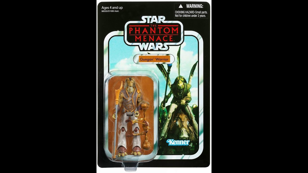 The Phantom Menace Toys : Star wars vintage collection gungan warrior phantom menace