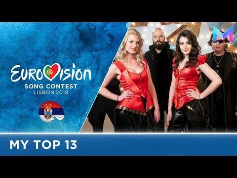 Eurovision 2018 - MY TOP 13 (so far)