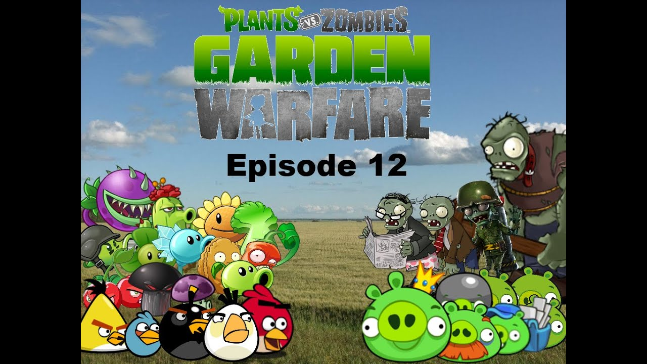 Plants Vs Zombies Garden Warfare Plush Series Episode 12 Angry Birds Youtube