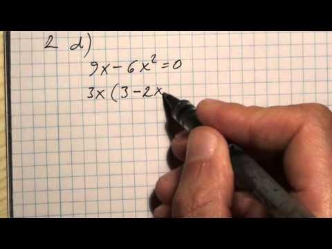 10. o. A másodfokú egyenlet 01 (1. - 4. feladat)