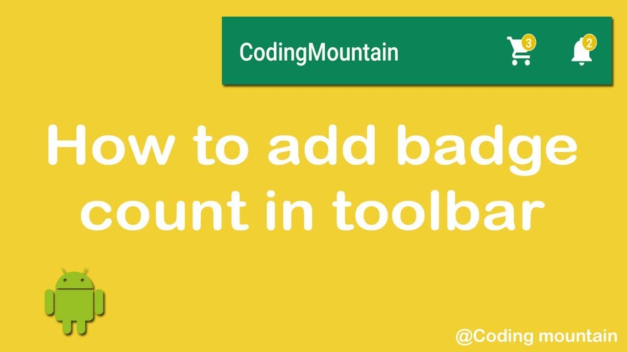 How to add Badge Count to the toolbar icon like cart, notification etc
