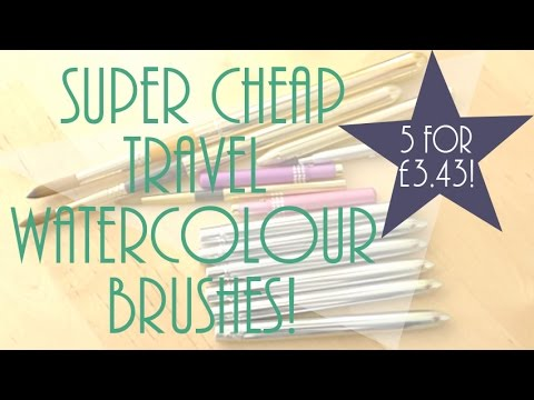 SET OF 5 RETRACTABLE TRAVEL WATERCOLOUR BRUSHES FOR £3.43?!!!
