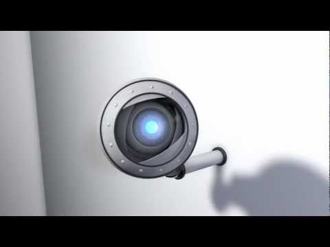 Eye robot animation inspired by Portal 2