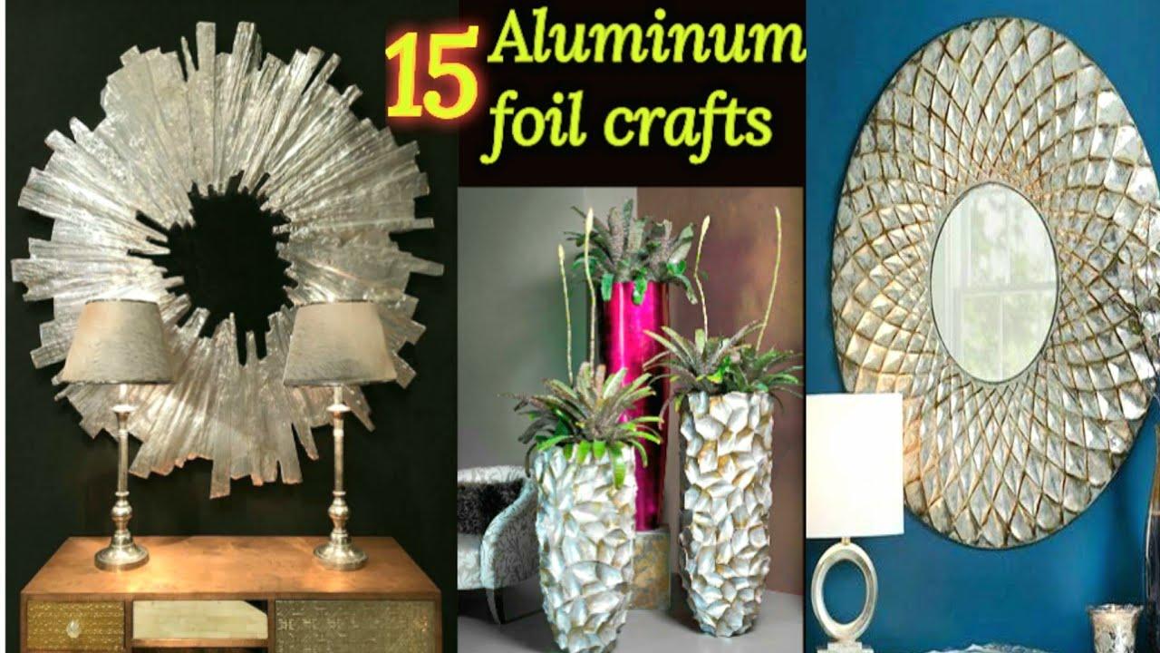 15 Aluminum foil wall decor | silver foil paper craft ideas | Aluminum foil craft idea | craft angel