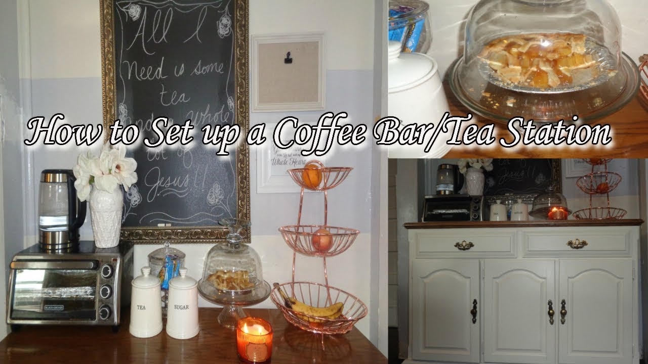 How To Set Up A Coffee Bar Tea Station