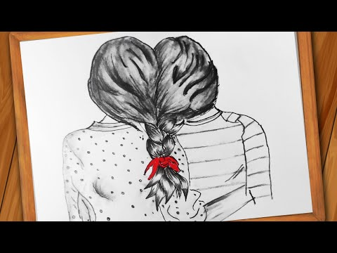Best Friend Drawing || How To Draw BFF For Beginners || Step By Step || Pencil Sketch Easy Drawing
