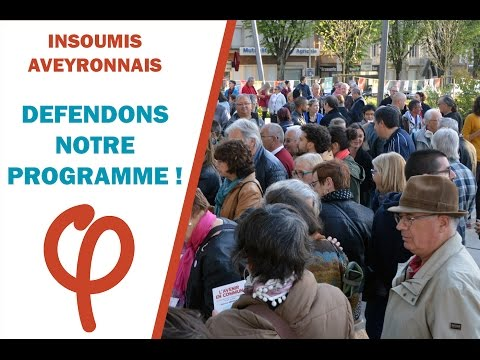 Insoumis aveyronnais : défendons notre programme !