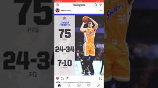 Jimmy fredette dropped 75 points in China