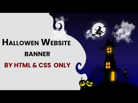 Hallowen Website Banner | Created By HTML CSS Only | Website Banner