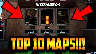 TOP 10 MAPS OF ALL TIME!!! (ROBLOX ASSASSIN)