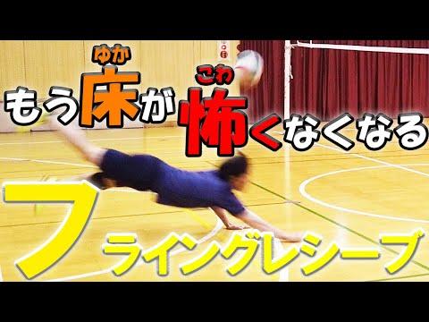 フライングレシーブを試合で使えるコツと練習方法をスロー映像で徹底解説【バレーボール】