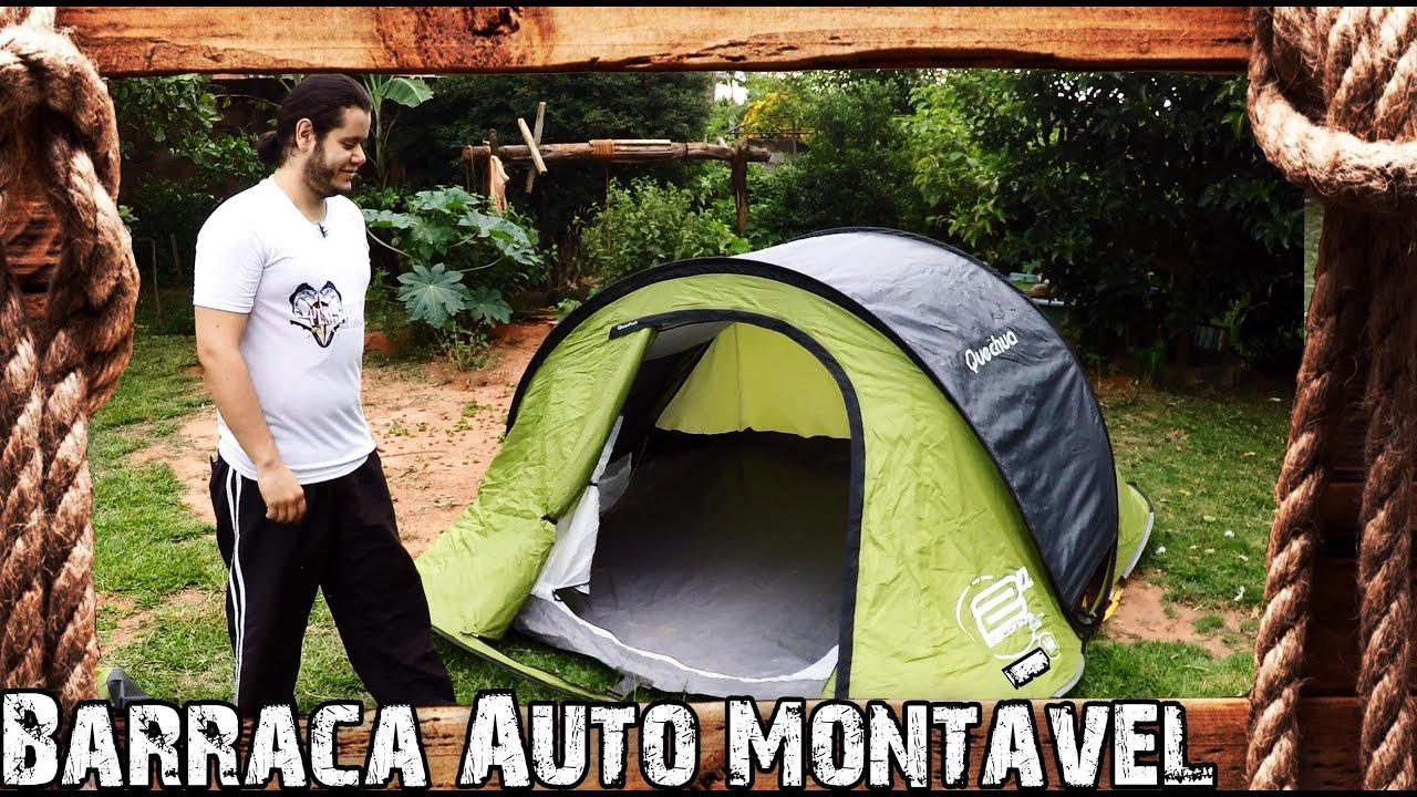 52690e625 Barraca Auto Montável - Quechua 2 Seconds Air - YouTube