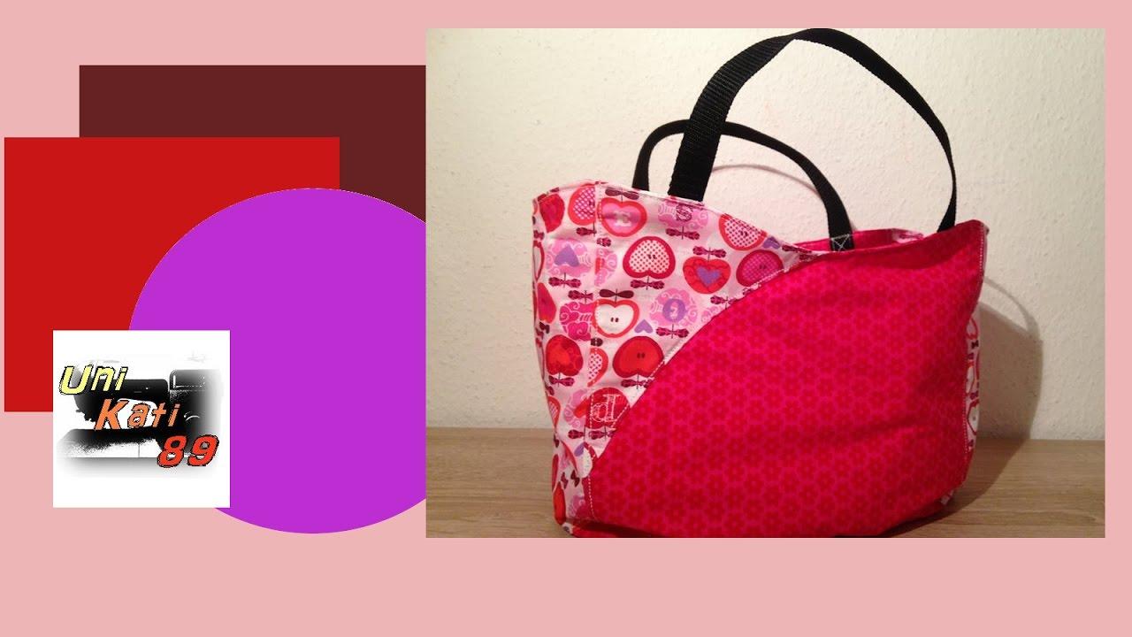 Mini Shopper 1.0 Tasche nähen Anleitung DIY kostenloses Schnittmuster zum Ausdrucken #UniKati89