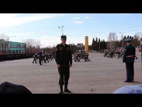 Парад. 9 мая 2019 года. ЗАТО п. Солнечный