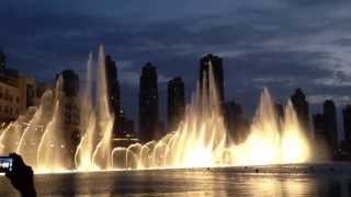 Dubai Mall Fountain dancing on Emarati Song