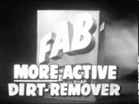 Vintage 1954 Fab Laundry Detergent Commercial Youtube