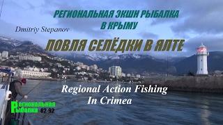 МОРСКАЯ РЫБАЛКА В КРЫМУ,ЯЛТА,ЛОВЛЯ СЕЛЁДКИ(Fishing in Yalta,catching herring in the winter.Проэкт Региональная экшн рыбалка в Крыму.Ловля селёдки зимой в Ялте.Знакомство..., 2017-01-22T09:16:51.000Z)