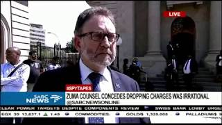 Zuma councel concedes dropping charges was irrational, DA reacts