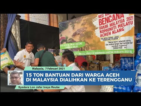 15 Ton Bantuan dari Warga Aceh di Malaysia Dialihkan ke Terengganu