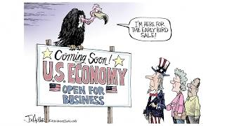 5 scathing cartoons about Trump's rush to reopen the economy