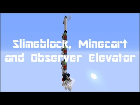 how to build a minecart elevator