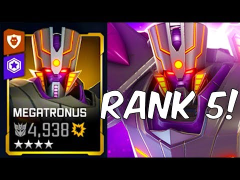 RANK 5 MAX FORGE LEVEL MEGATRONUS! - Transformers: Forged To Fight |