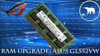 HOW TO UPGRADE RAM IN ASUS ROG GL552VW