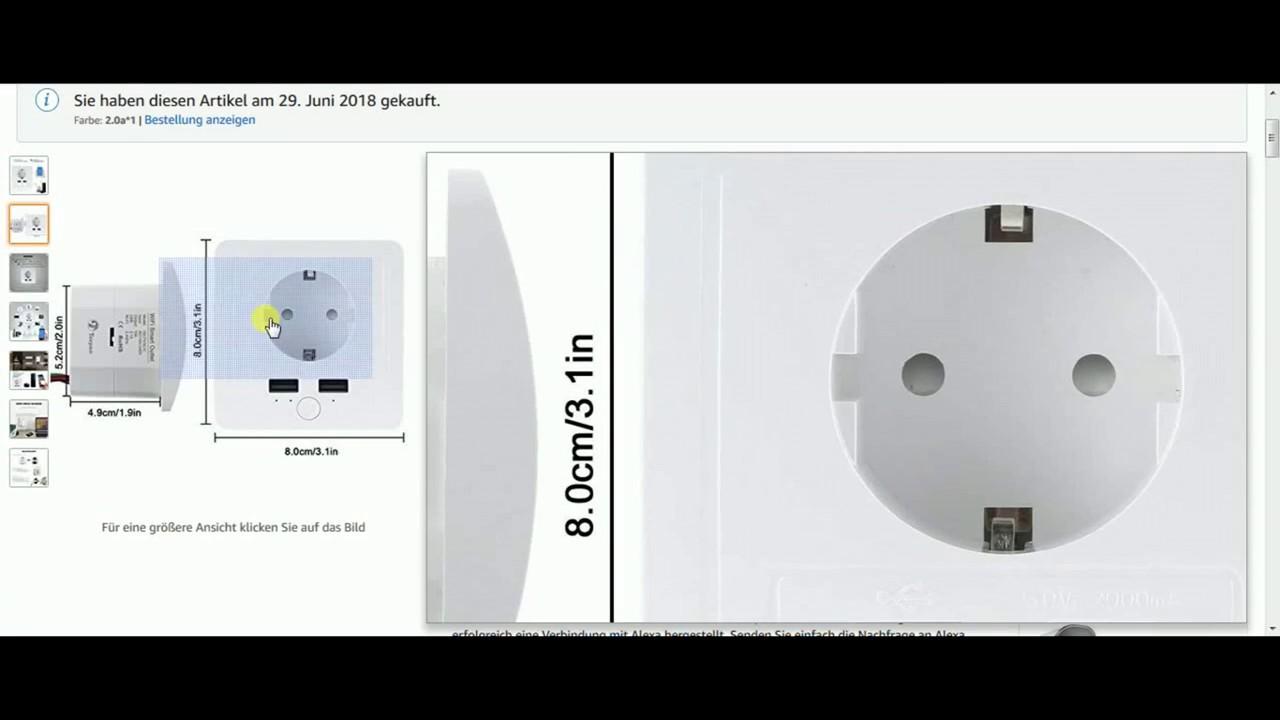 die intelligente teepao unterputz schuko steckdose mit 2 usb