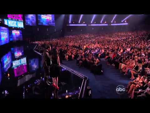 Phillip Phillips and Lucy Hale at American Music Awards 2012