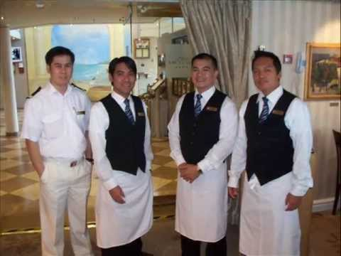 FRED OLSENMS BRAEMAR Cruise Ship OCT The Staff Crew - Staff on a cruise ship
