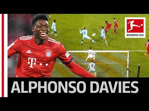 18-Year-Old Alphonso Davies Scores His First Goal for FC Bayern München