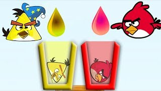 Angry Birds Drink Water - SHOOT ANGRY BIRDS TO COLOR WATER CUPS