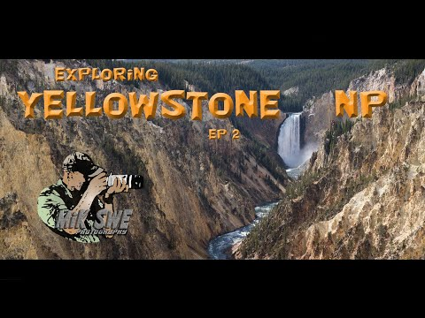Driving thru Yellowstone National Park - watching geysers, waterfalls and wildlife