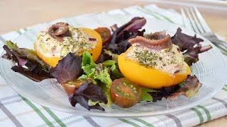 Tuna Salad-stuffed Peaches - Easy Tuna-stuffed Peaches Salad Recipe