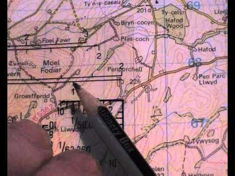how to take a map / grid reference