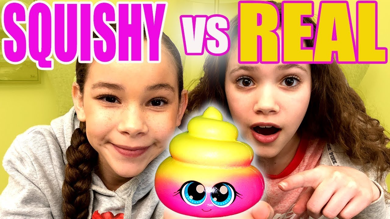 Squishy Toys Vs Real Food : Ultimate Squishy VS Real Food Challenge *Sierra Cries* - YouTube