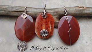 "3 ""Perfect Pendants""- How To Wire Wrap a Bead Into a Pendant 3 Styles"