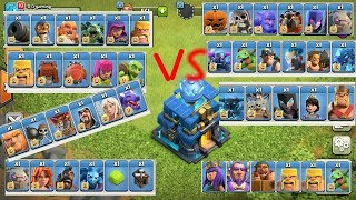 Max. Th-12 VS All troops (TH & BH+Heroes)  Clash of Clans  ADDICTED ONE