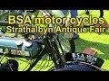 BSA motor cycles at the Strathalbyn Antique Fair 2015