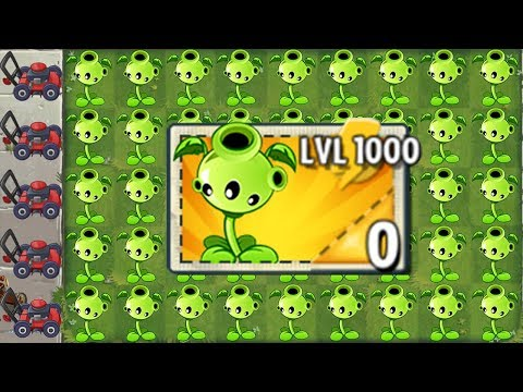 NEW Pea Plant LEVEL 1000 Power-Up! in Plants vs Zombies 2 (PvZ 2 Gameplay All Pea)