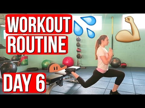 MY WORKOUT ROUTINE! Vlogmas Day 6 | Meredith Foster